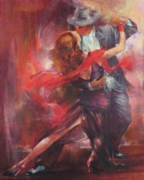 Dancing Art Poster - Pedro Alvarez Tango Argentino II Decorative Romance Passion Dancing Fine Art Poster Print 16 by 20