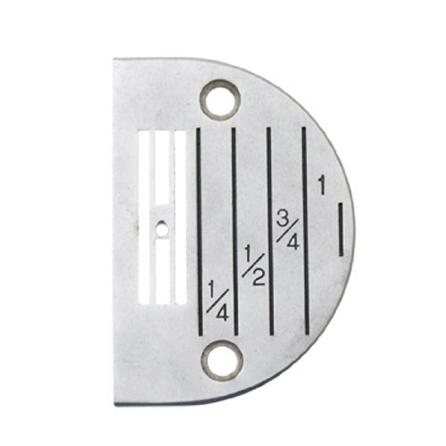 Water & Wood Sewing Machine Semi-circle Marked Needle Plate Iron