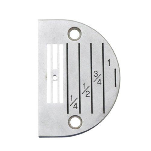 Water & Wood Sewing Machine Semi-circle Marked Needle Plate Iron