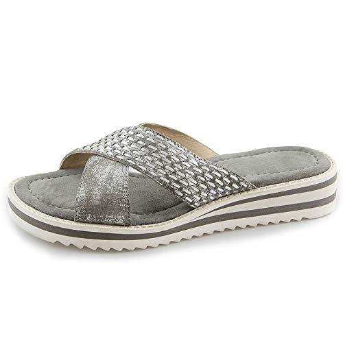 00782 Con Para silver Mujer Shoes Plataforma caruso Mona laminato Grey Gris Sandalias Marc C76OtpqO