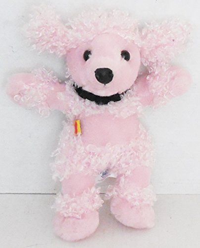 Build-A-Bear Pink Fuzzy Poodle With Black Magnet Pouch 6