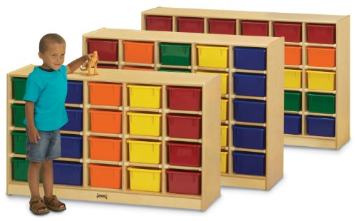 Jonti-Craft 0420TK 20 Cubbie-Tray Mobile Storage without (Jonti Craft Cubbie Tray)