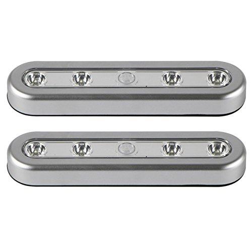 UOOOM 2 pcs Motion Sensor Light for Wardrobe LED cabinet light battery For Wardrobe Stair Hallway (2 PCS) - Worksurface Light