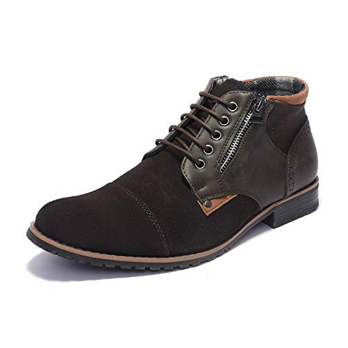 Leather Suede Brown Mens (Bruno Marc Men's Adam_H1 Dark Brown Suede Leather Chukka Boots Size 11 M US)