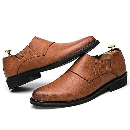 Desgaste y tamaño Hombre EU Gris al Color la Marrón Oxford Jusheng Cómodo la Oxford Resistente Informal de 41 Informal de para Moda Zapatos Moda qw6fT
