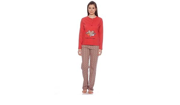 Kukuxumusu Pijama Mujer Corazones Rojo XL: Amazon.es: Ropa
