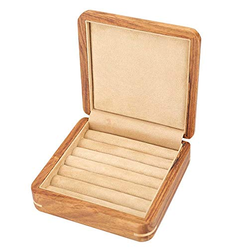 (Pure Solid Wood Cufflinks Box Jewelry Ring Box Storage Box Earrings Ring Jewelry Box)