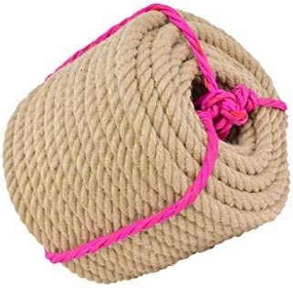ZHWNGXO Camping Seil, 16mm geflochtenen Seil Weniger Verunreinigungen rutschfeste Verschleißfeste Natürliche Jute Seil verwendet for Verpackung, Hauptdekoration (Size : 20m)