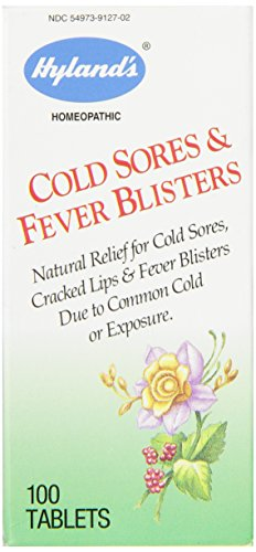 Hyland's Cold Sores and Fever Blisters Tablets, Natural Relief for Cold Sores, Cracked Lips & Fever Blisters Due to Common Cold or Exposure, 100 Count