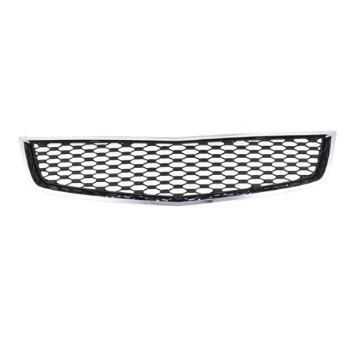 (CarPartsDepot, Front Grill Grille Lower Section Chrome Frame Black Insert Assembly, 400-151720 GM1200621 25798747)