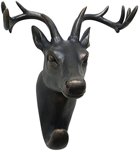 Three Hands Resin Deer Head Wall Hook
