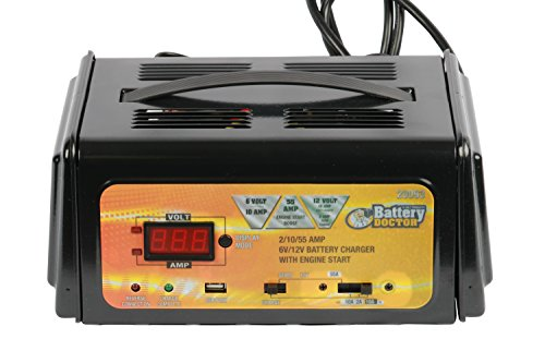 - WirthCo 20093 Battery Doctor 6/12 Volt 2/10/55 Amp Battery Charger with Engine Start