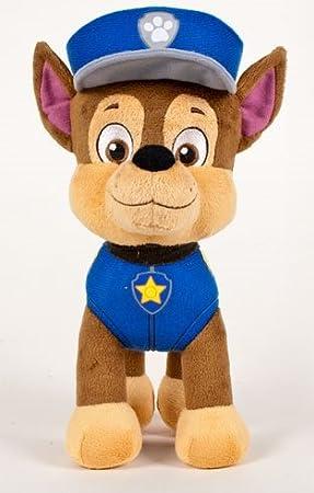 Patrulla canina (PAW PATROL) - Peluche personaje Chase, Pastor Aleman Policia (42cm