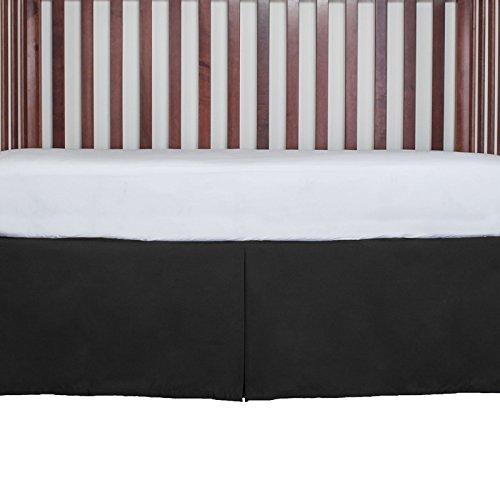 Tailored Crib Dust Ruffle 15 inches long, Black