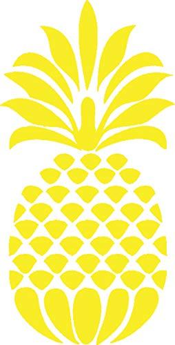 CCI Pineapple Decal Vinyl Sticker|Cars Trucks Vans Walls Laptop| Yellow |5.5 x 2.5 in|CCI518 (Sponge Bob Ukulele)