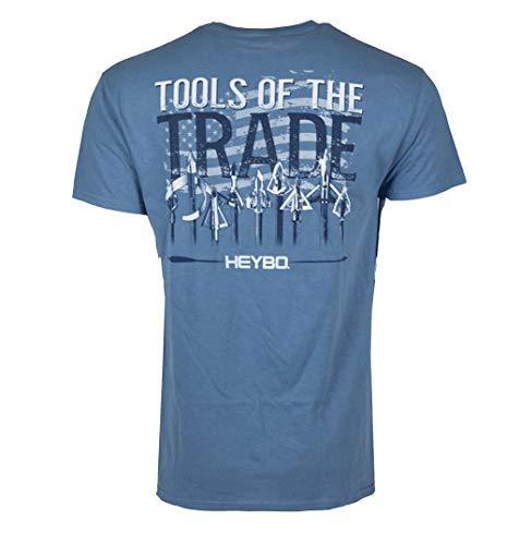 (Heybo Archery Tools of The Trade Short Sleeve T-Shirt-Slate-XL)