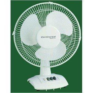 Continental Electrics CE27212 12 Inch Oscillating Desk Fan 12' Electric Table Fan