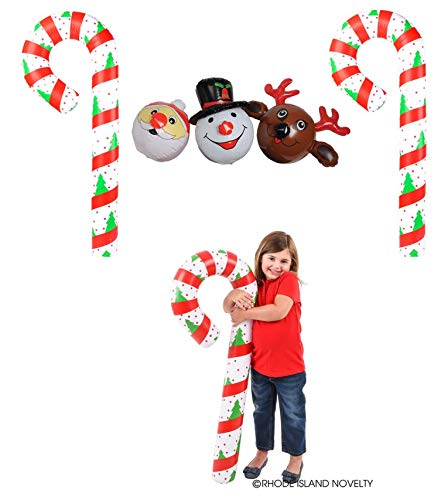 Adorable Set of 5 (Five) Festive Christmas/Holiday Inflatables ~ TWO 44