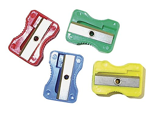School Smart Plastic Pencil Sharpener 24 pieces assorted colors