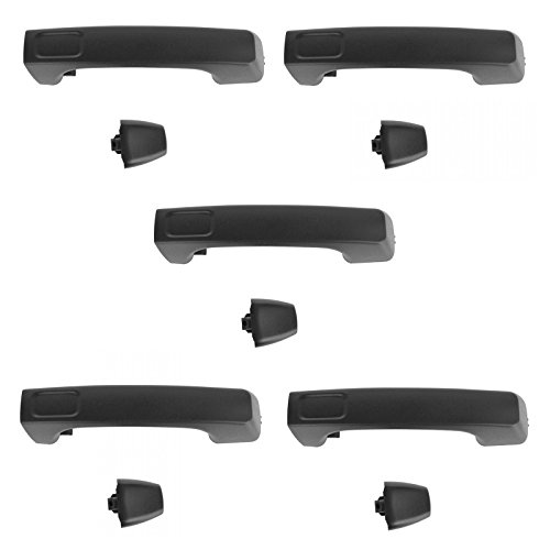 Price comparison product image Door Handle Black Exterior Outside Front & Rear Set of 5 for 06-10 Hummer H3 H3T