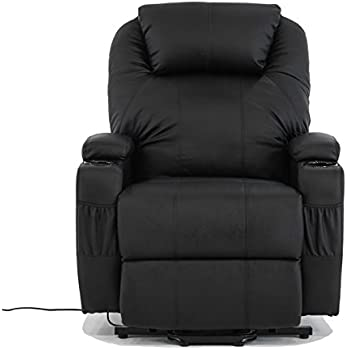 Alitop Electric Real Leather Recliner Armchair Lift Chair Wall Hugger Lounge Seat Black  sc 1 st  Amazon.com & Amazon.com: Alitop Electric Real Leather Recliner Armchair Lift ... islam-shia.org