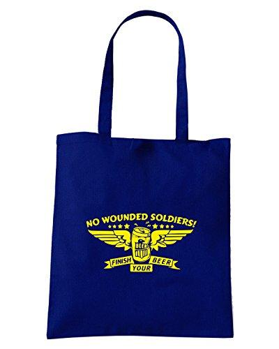 T-Shirtshock - Bolsa para la compra FUN0272 11 16 2013 No Wounded Soldiers T SHIRT det Azul Marino