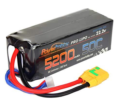 Powerhobby 6S 22.2V 5200mAh 50C Lipo Battery w XT90 Plug Soft Case Fits : Arrma Kraton Nero Tyhpon Senton Tailon OUTCAST FAZON - Kraton Box
