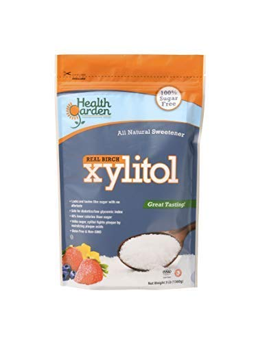 - Health Garden Birch Xylitol Sugar Free Sweetener, All Natural Non GMO (Not from Corn (3 Lb)