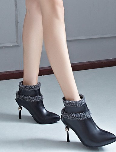 Moda Cn43 Black Uk8 5 Tacón Eu39 Xzz Casual Beige 5 Botas us10 Eu42 Cn40 Uk6 5 us8 Stiletto 5 Beige Zapatos A Negro Tacones La Pvc Mujer De UgzxUR