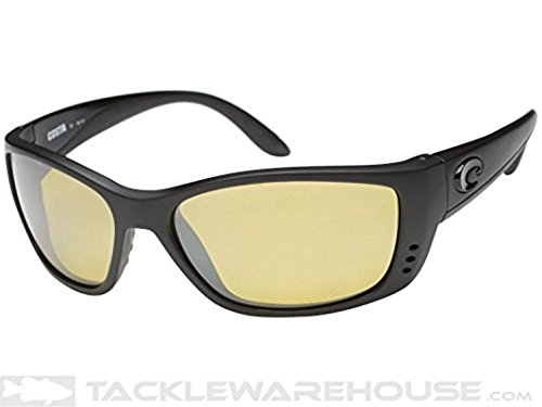 Costa Fisch Sunglasses Blackout / Silver Sunrise Mirror 580P & Cleaning - Costa Fisch Lenses