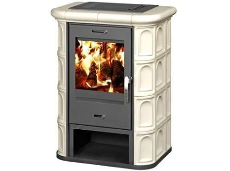 Estufa de leña chimenea Log quemador kachel forro parte superior salida de combustión 9 kW: Amazon.es: Bricolaje y herramientas