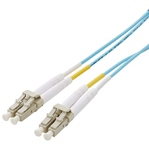 AmazonBasics 10Gb 40Gb Multimode OM3 Duplex 50/125 OFNP Fiber Patch Cable LC to LC - 30 Meters
