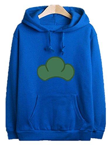 [Osomatsu san Hoodie Matsuno Ichimatsu Jyushimatsu Hoody Sweatshirt Cosplay Costume (S, Blue)] (Sim Character Costume)