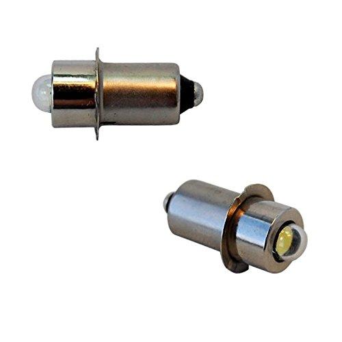 HQRP High Power Bulb 2-Pack for 8.4V 9.6V 12V 14.4V 18V Volt Dewalt Flashlight DW908 DW919 DW906 DW918 DW904 DW902 DW904 DW9043 92546-1 A-90261 A-90233 ML902 ML702#49-81-0090 + HQRP Coaster