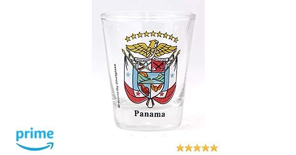 PANAMA COAT OF ARMS SHOT GLASS SHOTGLASS