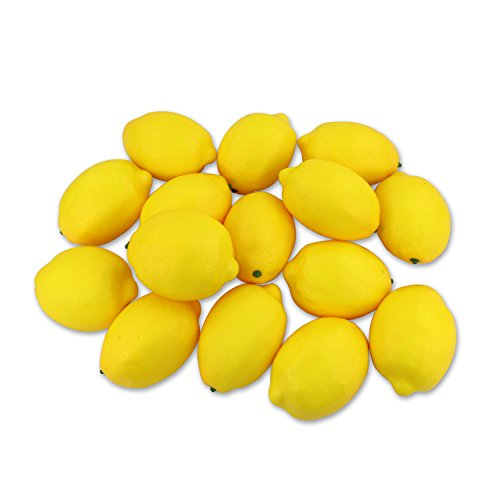 CEWOR 15pcs Fake Fruit Lifelike Lemons Simulation Yellow Lemon Artificial Fruit Decorations for Still Life Paintings Home House Kitchen Party Decoration by CEWOR
