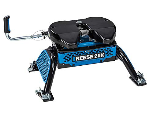 Reese Black 30890 M5 Fifth Wheel Trailer Hitch, 20K-GMC/Chevrolet 2500 3500 HD with Factory Rails