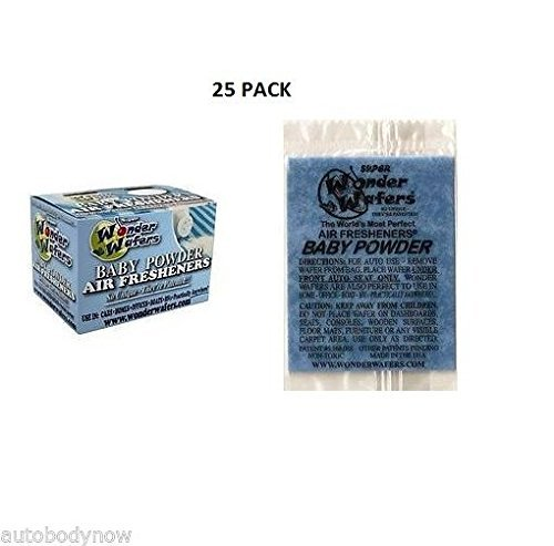 Wonder Wafers 25 CT Individually Wrapped Baby Powder Air Fresheners
