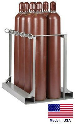 Streamline Industrial CYLINDER STAND PALLET for LP Propane Welding Gases Compressed Air - 8 Tank Cap