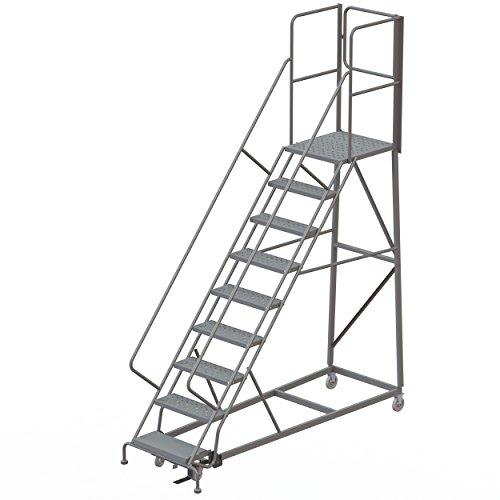 Tri-Arc RWEC109246-XR 9-Step Gateway Rear-Exit Gate Forward Descent Incline Ladder with 27