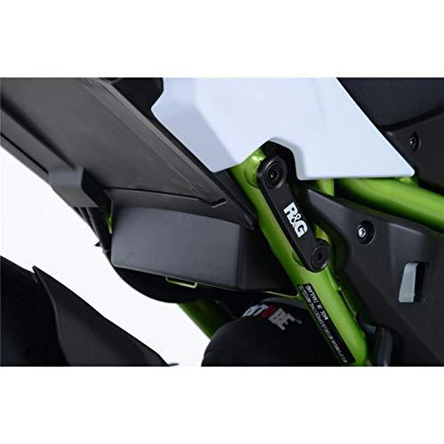 Cache orifice reposes-pieds R/&G RACING noir Kawasaki Z650