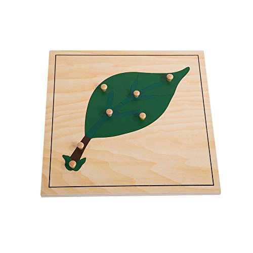Montessori Nature Materials Leaf Puzzle for Early Preschool Learning Toy by Leader Joy Montessori USA