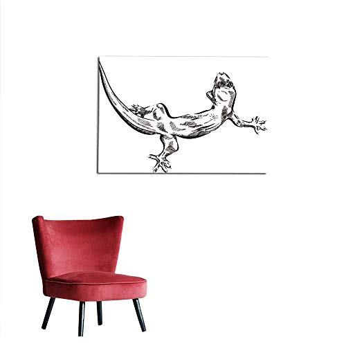 homehot Corridor/Indoor/Living Room Picture with Lizard Vector Graphics on White Background Mural 24
