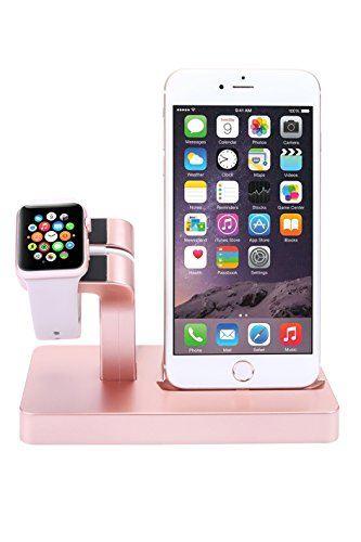 Apple Watch Stand, iPhone Docking Station, 2-in-1 Multi-Charging Station Hub for Apple Watch Series and All Smart Phone by SPRAWL