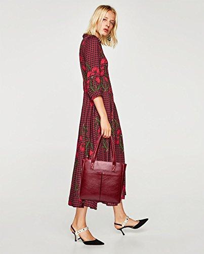 Le spalla di nuovo delle il capacità di tote del adattano di Tisdaini sacchetto di sacchetto donne spalla sacchetto borse Rosso grande di grande d0q4vwU