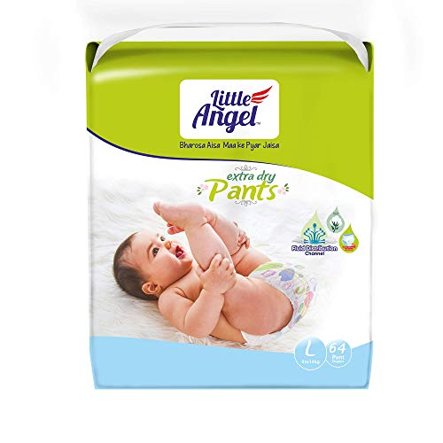 Little Angel Baby Diaper Pants, Large (64 Count)