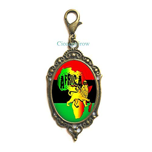 Cioaqpyirow Africa Map Zipper Pull Africa Map Lobster Clasp Home Town Love Jewelry Peralized Picture Zipper Pull,HO0E310]()