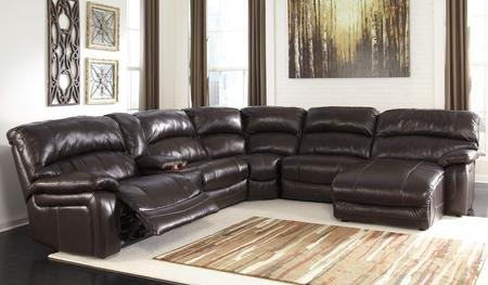 Ashley Damacio U98200-58-57-19-77-46-97 6-Piece Sectional Sofa with Left Arm Power Recliner Storage Console Armless Recliner Wedge Armless Chair and Right Arm Press Back Power Chaise in Dark (Sectional Wedge)