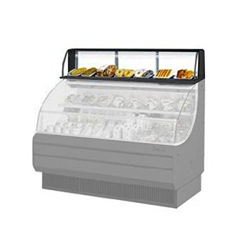 Top Display Dry Case-low Model, For Open Display Merchandiser Tom-75s/l, 75 5/8'' W X 12 1/4'' D X 13 1/4'' H, Glass Front Shield And Side Walls, 300 Stainless Steel Interior, Black Exterior by Turbo Air