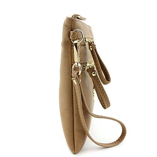 Wristlet Stone Zipper Bag Crossbody Pocket Multi 4qPxnE4